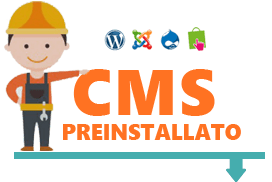 CMS preinstallato Misterdomain.eu