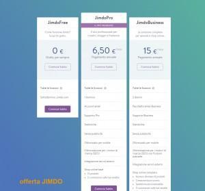 prezzi hosting di jimdo