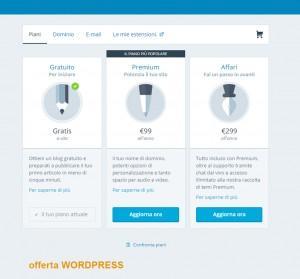 Prezzi hosting WordPress.com