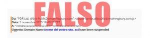 """Attenzione! Email di Spam da un falso """"PublicDomainRegistry"""""""