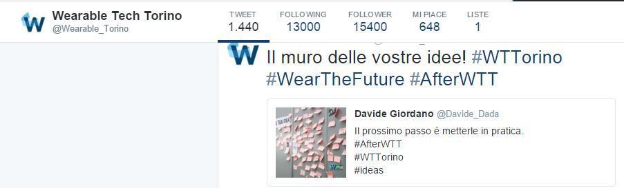 Wearable Tech Torino, prima fiera espositiva in Europa dedicata alla tecnologia indossabile.