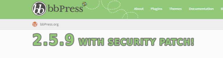 Vulnerabilità del Plugin bbPress – aggiornare alla 2.5.9