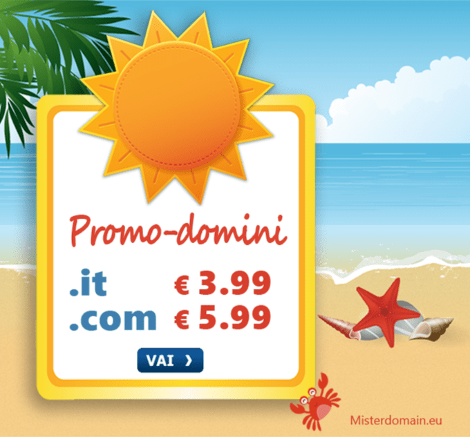 offerta domini .it e .com Misterdomain.eu