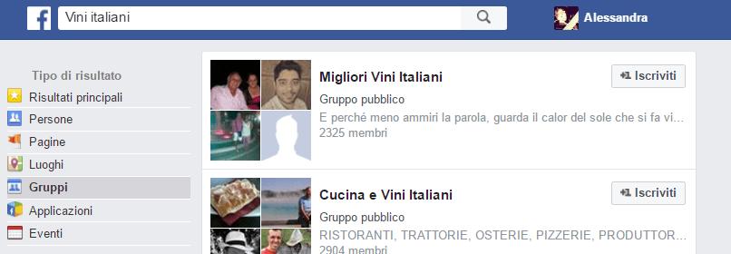 vini italiani - gruppi su facebook