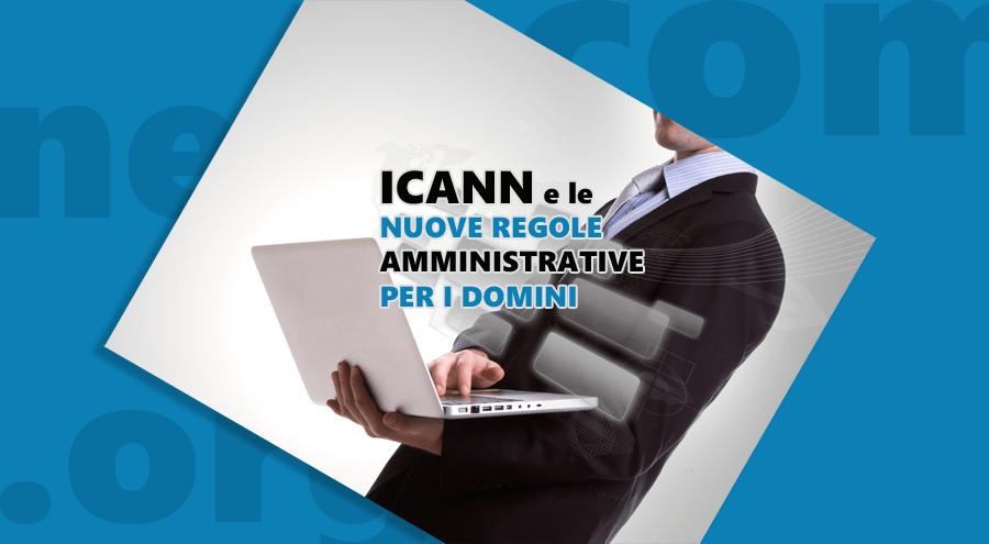 Novità da ICANN sul cambio dati della proprietà di un dominio.
