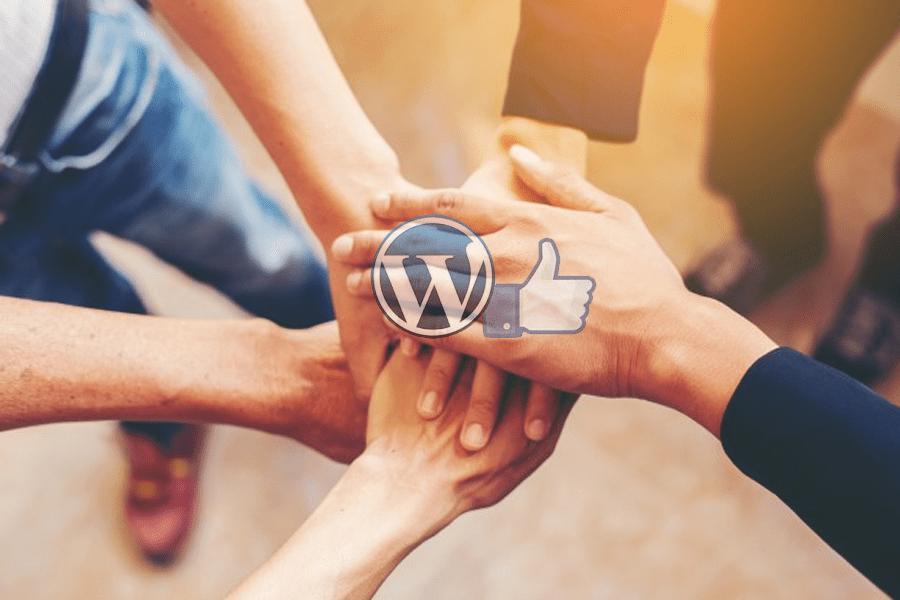 """L'assistenza WordPress ai clienti sulla pagina nel gruppo """"SupportoWordPress"""" su Facebook."""