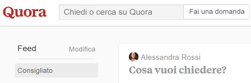 Quora in italiano - social di domande e risposte