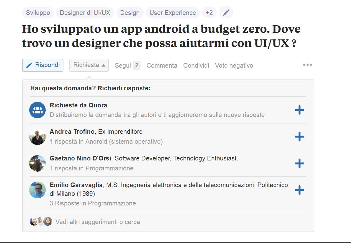 Ho sviluppato un app android a budget zero. Dove trovo un designer che possa aiutarmi con UI/UX